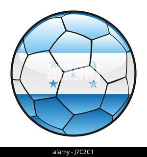 ball illustration flag honduras vector sport sports soccer football sport - Stock Photo