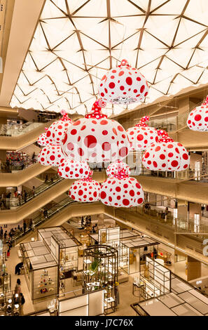 TOKYO - MAY 13 : Ginza Six, a new shopping mall in Ginza district. MAY 13, 2017 in Tokyo, Japan. The mall has a - Stock Photo