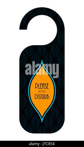 do not disturb hotel door knob, door hanger with special design - Stock Photo