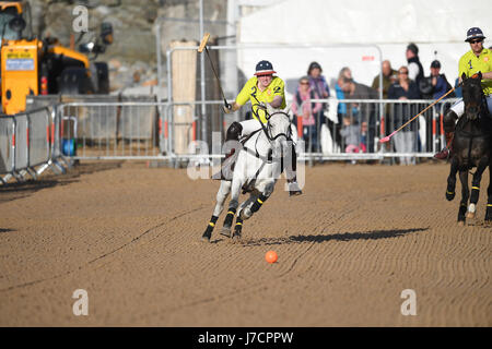 Polo on the Beach Watergate Bay 19th May 2017 - Stock Photo