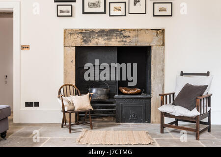 Original Fireplace Fireside Chairold Stone Fireplace Stock Photo Royalty Free .