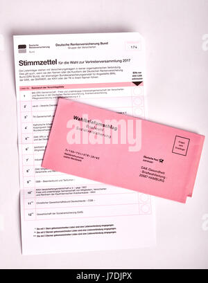 social election in Germany - Sozialwahl - Stock Photo