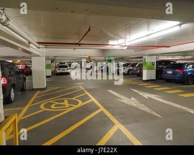 quebec,Canada. Underground parking at Place-Ville-Marie in downtown Montreal - Stock Photo