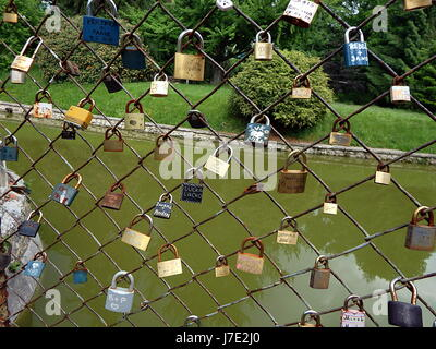 Love Lock On Grid Lock Symbol Of Loyalty And Eternal Love Stock