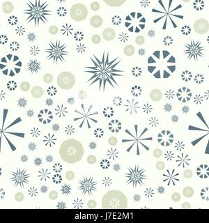 Abstract simple seamless pattern for design. Vector background with geometric stars and flowers. Circular colorful - Stock Photo