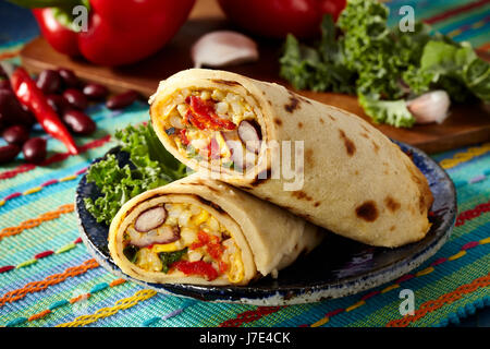 Vagan Mexican pancakes - Stock Photo