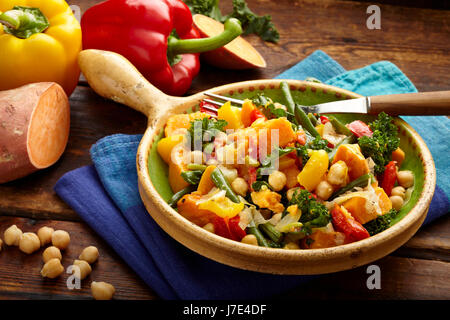 Vegan sweet potato stew - Stock Photo