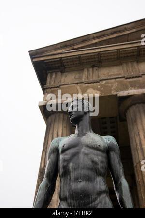 temple statue vienna austria greek landmark clasic classic beautiful - Stock Photo