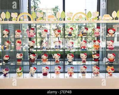 Tokyo, Japan. 23rd May, 2017. A Sanrio Collection of Hello Kitty in Japan can be seen at an exhibition near the - Stock Photo