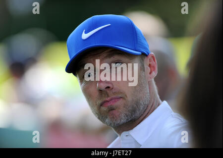 Virginia Water, Surrey, UK. 24th May, 2017. Boyzone's Ronan Keating at the Pro-Am event prior to the European Tour - Stock Photo