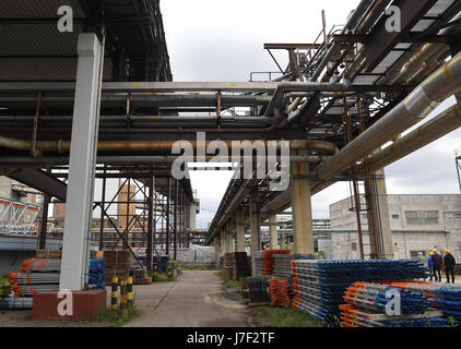 Berlin, Germany. 24th May, 2017. Overview of the grounds of the thermal power station Klingenberg in Berlin, Germany, - Stock Photo