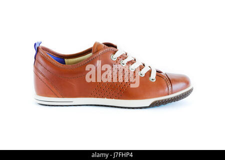 isolated unisex modern style jogging shoes - Stock Photo