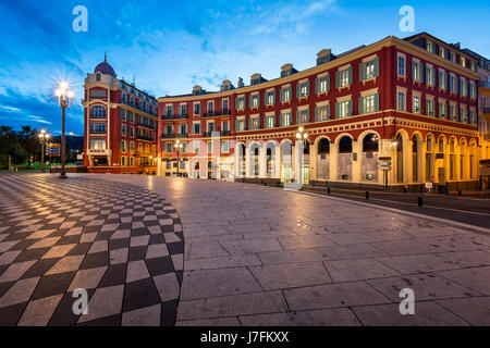Place Massena in Nice at Dawn, France - Stock Photo