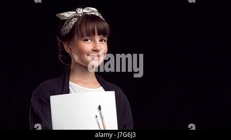 Portrait of Artist Girl - Stock Photo