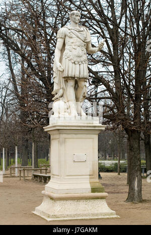 monument art famous tree trees park stone winter statue sculpture europe gravel - Stock Photo