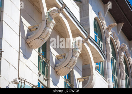 Architecture detail of Budapest National Theater, Hungary - Stock Photo