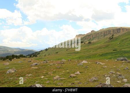 Beartooth Mountains scene, Montana - Stock Photo