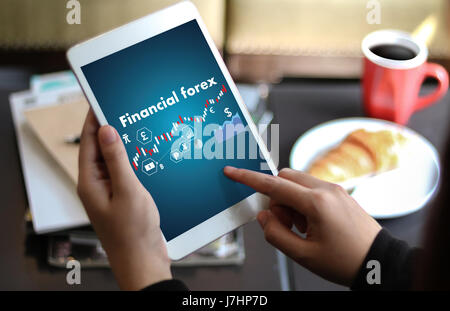 Financial forex Stock market, financial, business Candle stick graph chart - Stock Photo