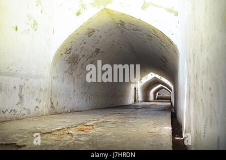 Underground tunnel in Taman Sari Water Castle complex, Yogyakarta - Stock Photo