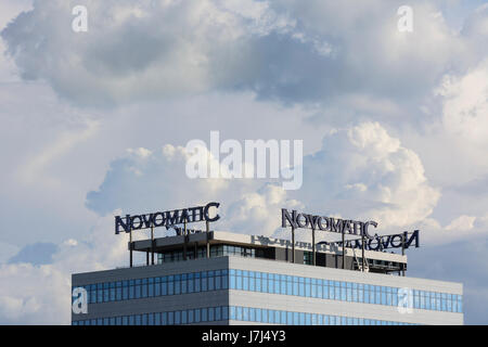 Novomatic Austrian Gaming Industries headquarters, Gumpoldskirchen, Wienerwald, Vienna Woods, Niederösterreich, - Stock Photo