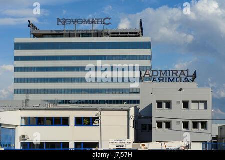 Novomatic Austrian Gaming Industries and Admiral headquarters, Gumpoldskirchen, Wienerwald, Vienna Woods, Niederösterreich, - Stock Photo