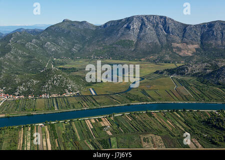 Plantations on Neretva delta, Croatia - Stock Photo