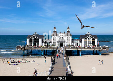 sellin pier on rgen - Stock Photo