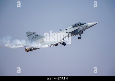 Saab JAS 39 Gripen multirole fighter aircraft - Stock Photo