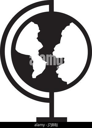 world planet school icon - Stock Photo