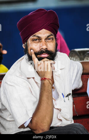 Pathankot, India, september 9, 2010: Portrait of indian man in turban and beard. - Stock Photo