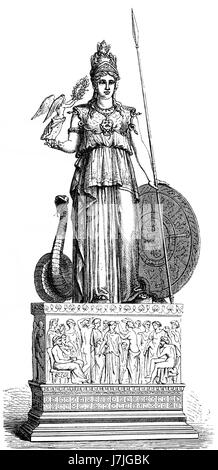 Statue of the goddess Pallas, ancient Greek religion - Stock Photo