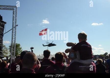 Sonderborg, Denmark - May 25, 2017: The international arrangement named Feuerwehr Sternfahrt 2017 in Sonderborg. - Stock Photo