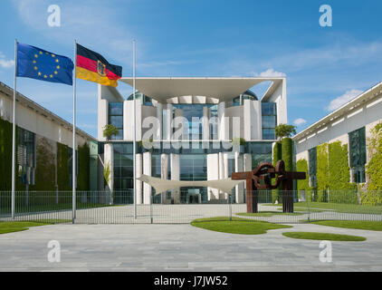 Berlin, Germany - may 23, 2017: The German Chancellery building in Berlin. - Stock Photo