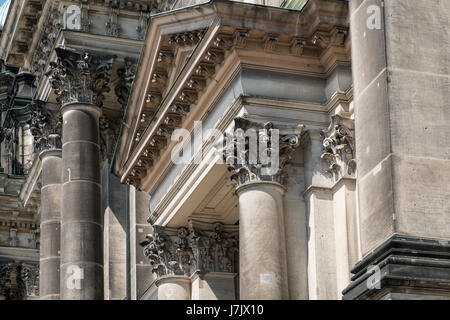 Detail Of The Corinthian Columns Capitals And The Frieze