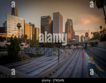 Downtown Los Anges, CA USA - Stock Photo