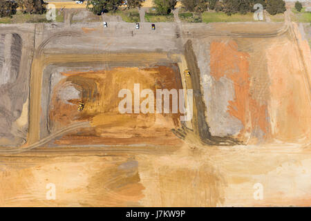 Top view of a industrial constuction area. - Stock Photo