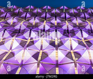 The new light-emitting diode (LED) multi-storey car park at the University of Leeds, West Yorkshire - Stock Photo