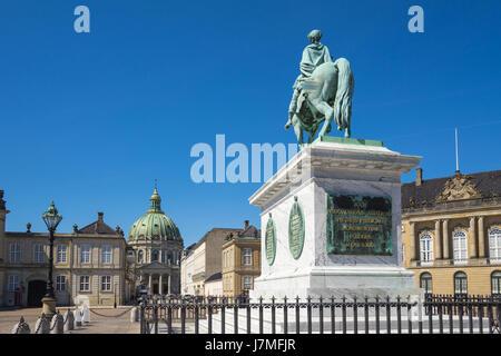 Copenhagen, The Amalienborg in Copenhagen city, Denmark. - Stock Photo