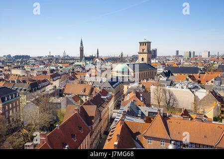 Copenhagen city Skyline in Denmark. - Stock Photo
