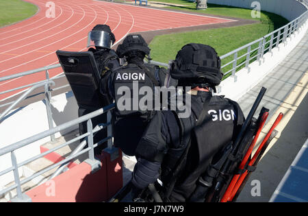 May 23, 2017 - Saint-Paul, Reunion island, France - Implementation of the NOVI plan (many victims ORSEC) in Saint - Stock Photo