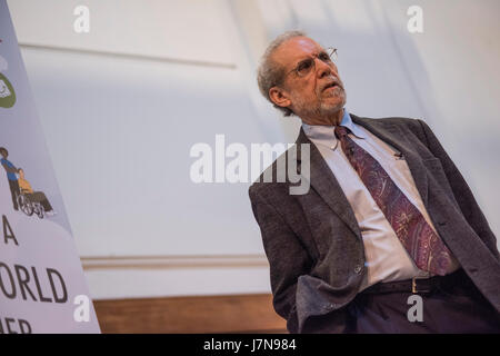 London UK. 23rd May 2017. International psychologist former journalist Dan Goleman on a rare visit to the UK speaking - Stock Photo
