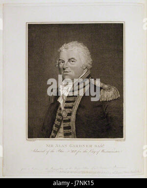Alan Gardner, 1st Baron Gardner by and published by Burnet Reading, after Theophilus Clarke - Stock Photo