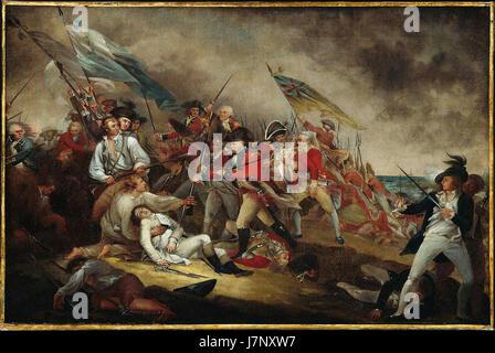 Death of General Warren, Battle of Bunker's Hill, June 17, 1775 - Stock Photo