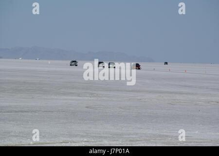 2012.10.02.154733 Cars speedway Bonneville Salt Flats - Stock Photo