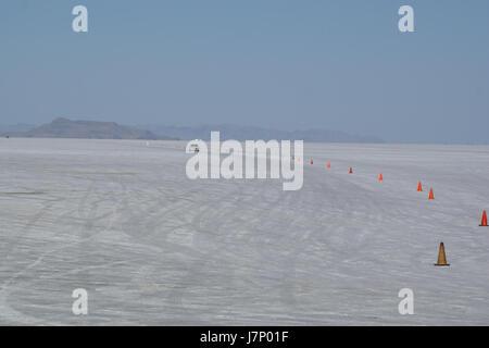 2012.10.02.155205 Speedway Bonneville Salt Flats Utah - Stock Photo