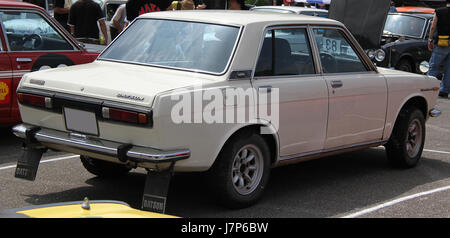 1971 Datsun Bluebird Sedan 1600 SSS rear - Stock Photo