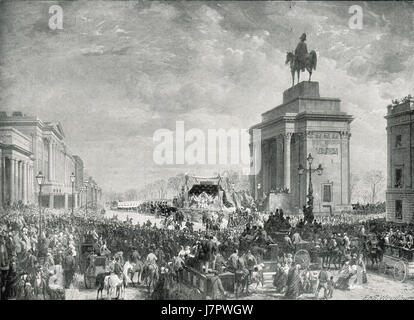 State Funeral of the Duke of Wellington 1852 - Stock Photo