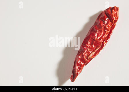 Chinese Dried Red Chile Peppers - Stock Photo