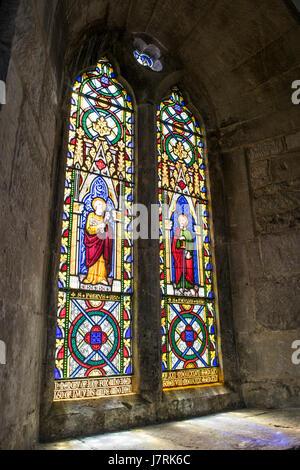 Stained Glass Window - England - UK - Stock Photo