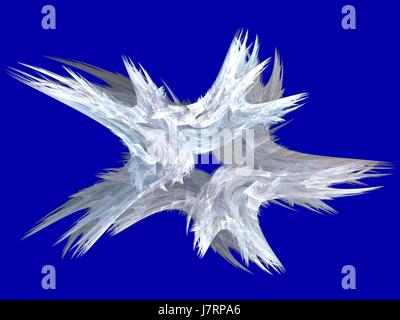 blue graphic abstract fractal patriotic conspicuous pictographic transparent - Stock Photo